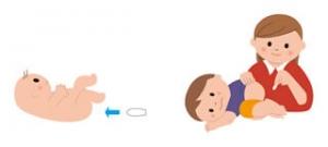 赤ちゃんの坐剤の使用方法